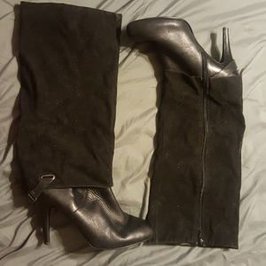 Black Nine West Knee Boot